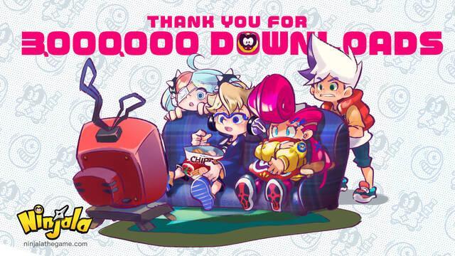 Ninjala consigue 3 millones de descargas en Nintendo Switch