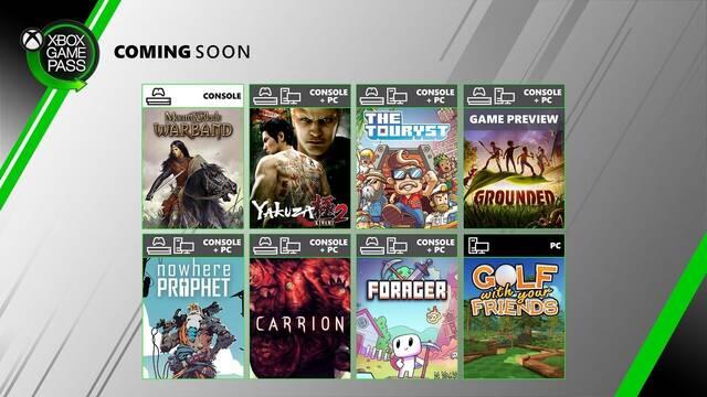 Nuevos juegos que llegan a Xbox Game Pass en julio.