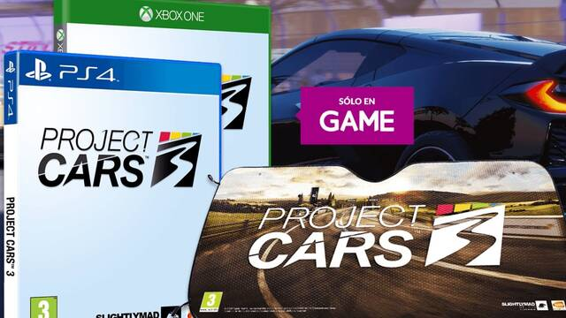 Incentivos por reservar Project Cars 3 en GAME.