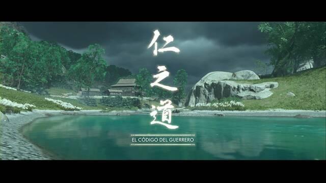 El código del guerrero al 100% en Ghost of Tsushima