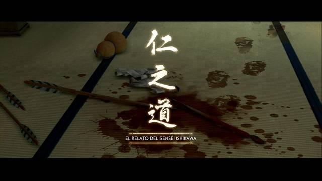 El relato del senséi Ishikawa al 100% en Ghost of Tsushima