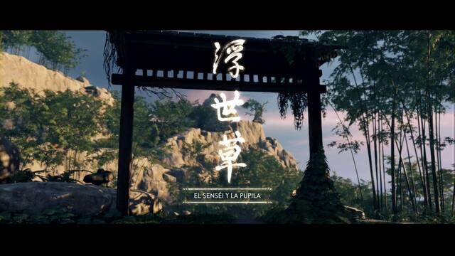 El senséi y la pupila al 100% en Ghost of Tsushima