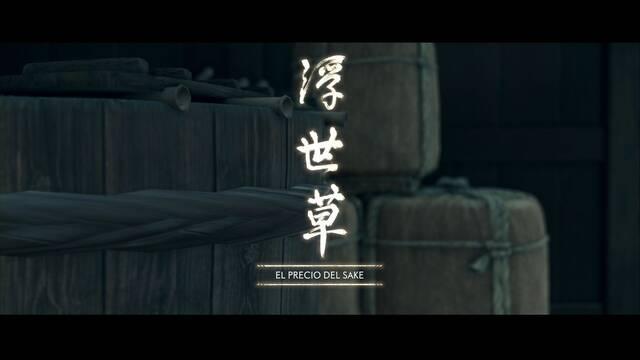 El precio del sake al 100% en Ghost of Tsushima
