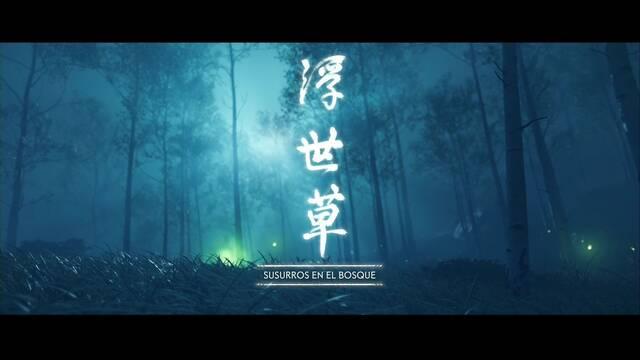 Susurros en el bosque al 100% en Ghost of Tsushima