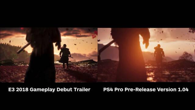Ghost of Tsushima comparativa E3 2018 versión final