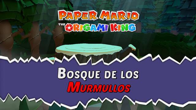 Bosque de los murmullos al 100% en Paper Mario: The Origami King