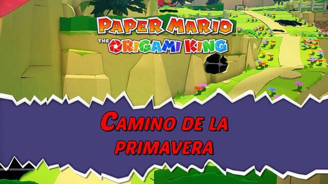Camino de la primavera al 100% en Paper Mario: The Origami King