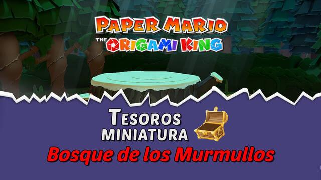 TODOS los tesoros en Bosque de los murmullos de Paper Mario The Origami King