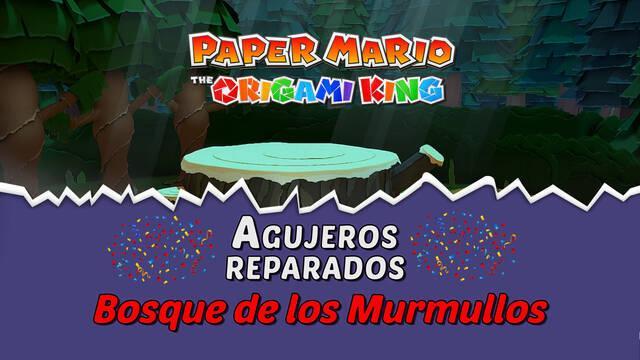 TODOS los agujeros en Bosque de los murmullos de Paper Mario The Origami King