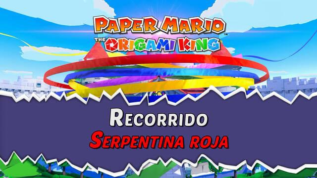 Serpentina Roja al 100% en Paper Mario: The Origami King