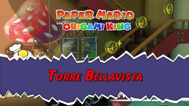 Torre Bellavista al 100% en Paper Mario: The Origami King