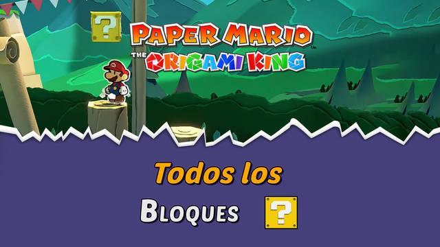 TODOS los Bloques ? golpeados de Paper Mario: The Origami King y dónde encontrarlos