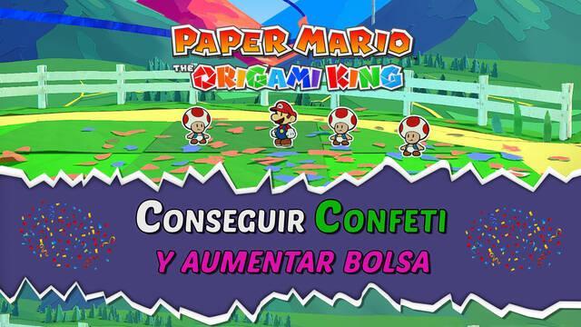 Cómo conseguir confeti y aumentar la bolsa en Paper Mario: The Origami King