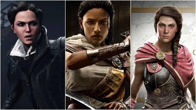 Ubisoft rebajó la presencia de protagonistas femeninas de los últimos tres Assassin's Creed.