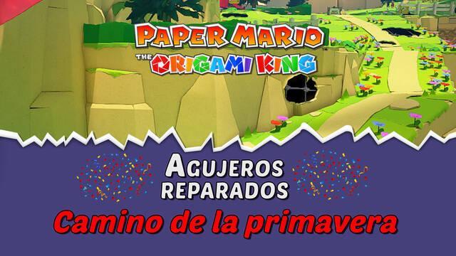 TODOS los agujeros en Camino de la primavera de Paper Mario The Origami King