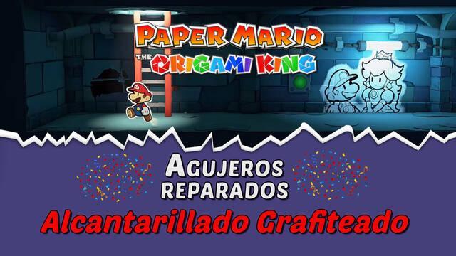 TODOS los agujeros en Alcantarillado grafiteado de Paper Mario The Origami King