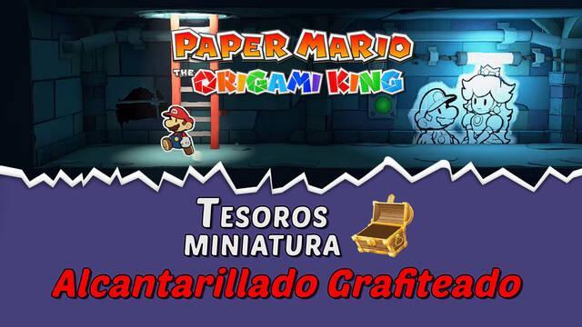 TODOS los tesoros en Alcantarillado grafiteado de Paper Mario The Origami King