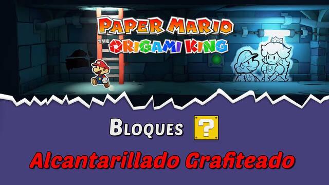 TODOS los bloques ? en Alcantarillado grafiteado de Paper Mario The Origami King