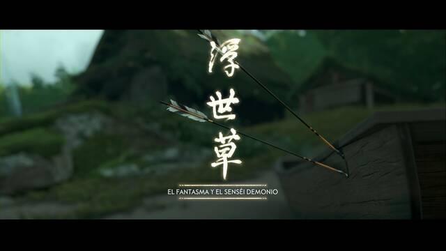 El fantasma y el senséi demonio al 100% en Ghost of Tsushima