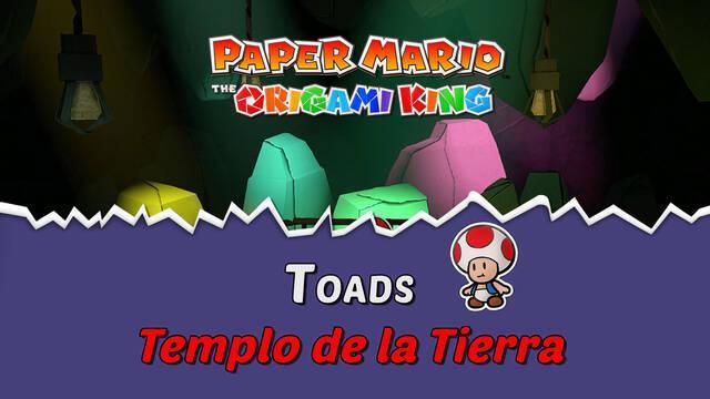 TODOS los Toads en Templo de la Tierra de Paper Mario The Origami King