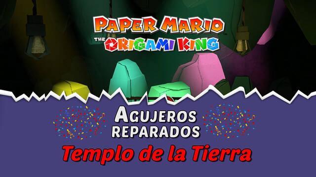 TODOS los agujeros en Templo de la Tierra de Paper Mario The Origami King