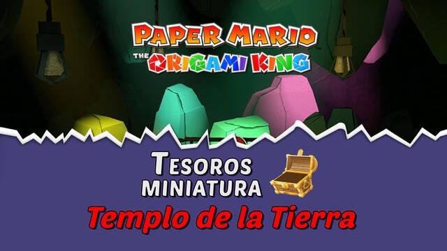 TODOS los tesoros en Templo de la Tierra de Paper Mario The Origami King