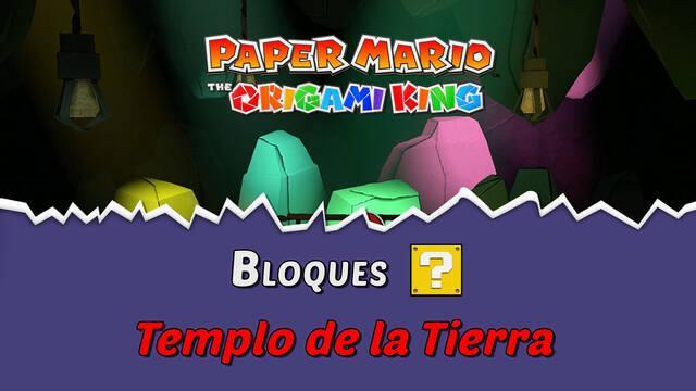 TODOS los bloques ? en Templo de la Tierra de Paper Mario The Origami King