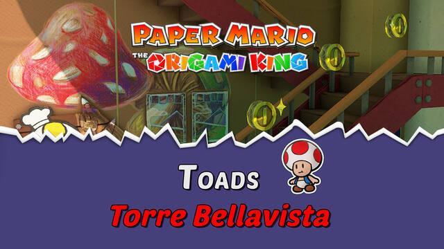TODOS los Toads en Torre Bellavista de Paper Mario The Origami King