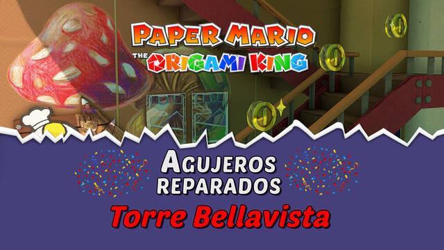 TODOS los agujeros en Torre Bellavista de Paper Mario The Origami King