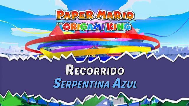 Serpentina Azul al 100% en Paper Mario: The Origami King