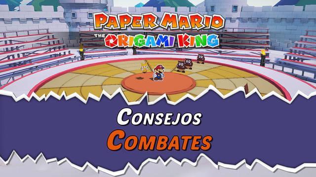 Consejos de combate Paper Mario: The Origami King, trucos y ayudas