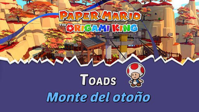 TODOS los Toads en Monte del otoño de Paper Mario The Origami King