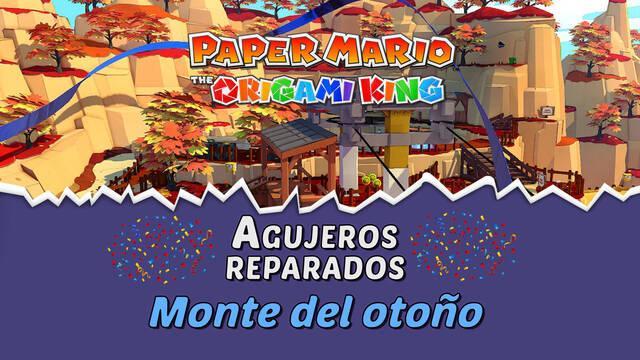 TODOS los agujeros en Monte del otoño de Paper Mario The Origami King