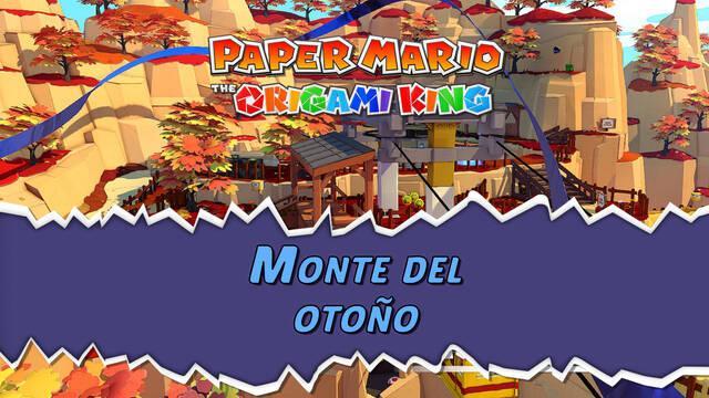 Monte del otoño al 100% en Paper Mario: The Origami King