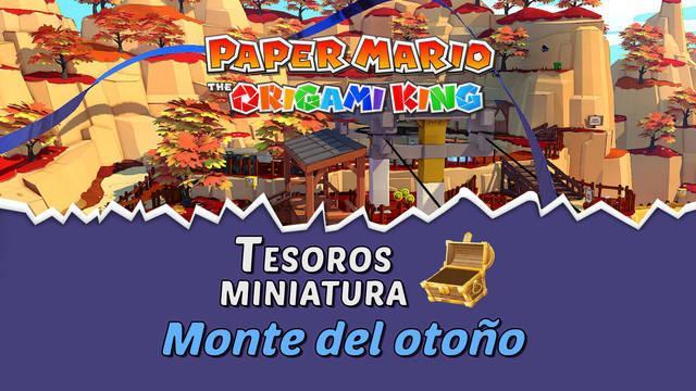 TODOS los tesoros en Monte del otoño de Paper Mario The Origami King