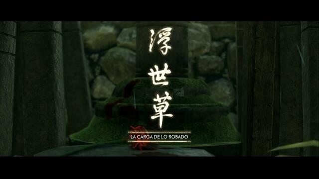 La carga de lo robado al 100% en Ghost of Tsushima