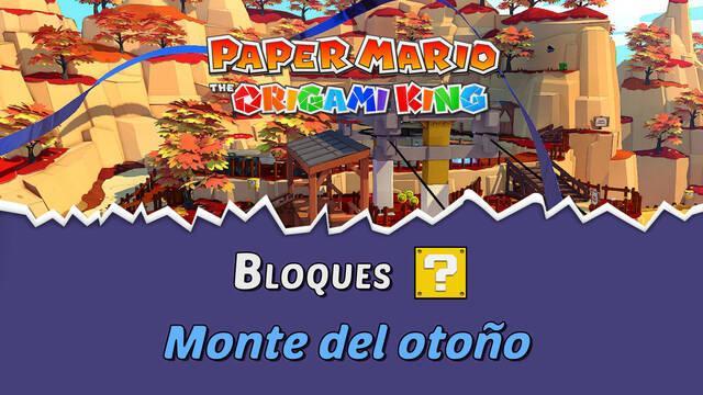 TODOS los bloques ? en Monte del otoño de Paper Mario The Origami King