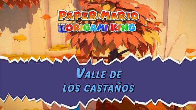 Valle de los castaños al 100% en Paper Mario: The Origami King