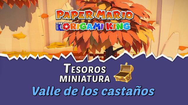 TODOS los tesoros en Valle de los castaños de Paper Mario The Origami King