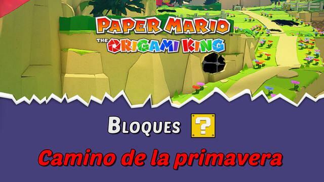 TODOS los bloques ? en Camino de la primavera de Paper Mario The Origami King