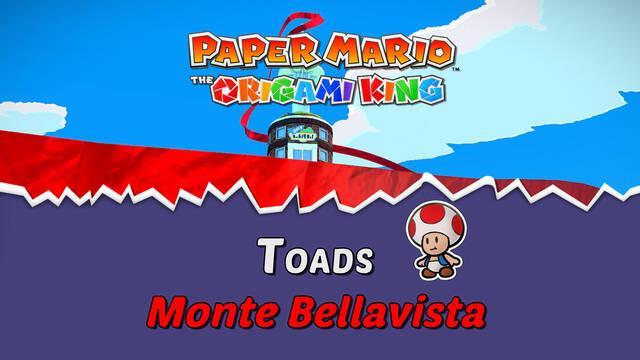 TODOS los Toads en Monte Bellavista de Paper Mario The Origami King
