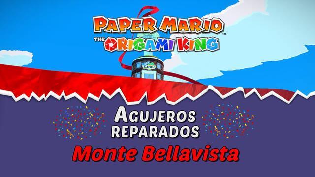 TODOS los agujeros en Monte Bellavista de Paper Mario The Origami King