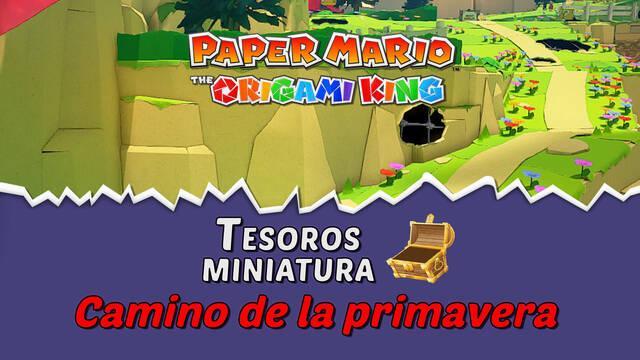 TODOS los tesoros en Camino de la primavera de Paper Mario The Origami King