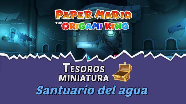 TODOS los tesoros en Santuario del agua de Paper Mario The Origami King