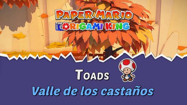 TODOS los Toads en Valle de los castaños de Paper Mario The Origami King