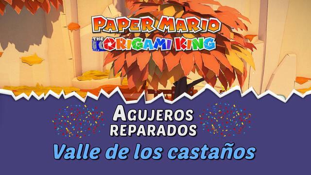TODOS los agujeros en Valle de los castaños de Paper Mario The Origami King