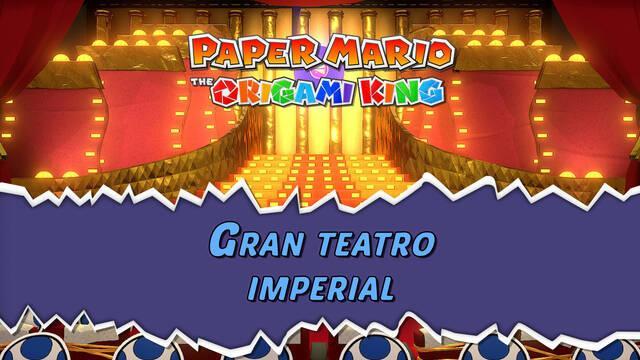 Gran teatro imperial al 100% en Paper Mario: The Origami King