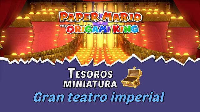 TODOS los tesoros en Gran teatro imperial de Paper Mario The Origami King