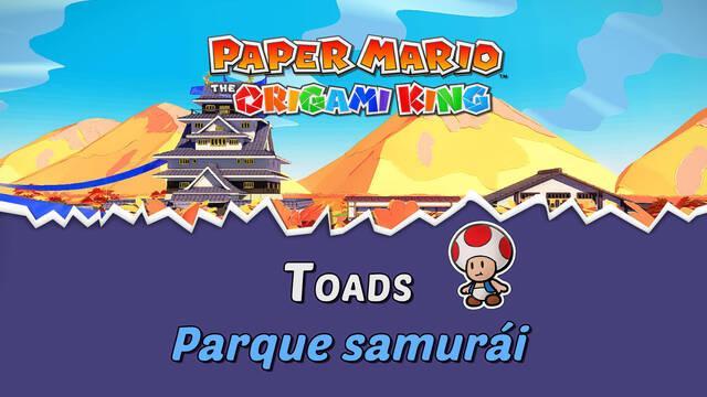 TODOS los Toads en Parque samurái de Paper Mario The Origami King
