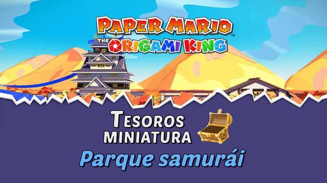 TODOS los tesoros en Parque samurái de Paper Mario The Origami King